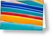 Multitude Of Surfboards Greeting Card
