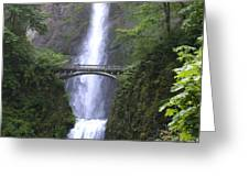Multnomah Falls Wf1051a Greeting Card
