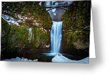 Multnomah Falls With Ice Greeting Card