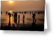 Mumbai Sunset Greeting Card