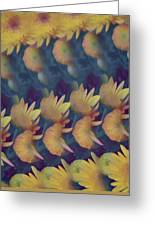 Mums Abstract Design  Greeting Card