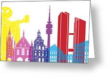 Munich Skyline Pop Greeting Card