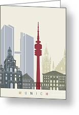 Munich Skyline Poster Greeting Card