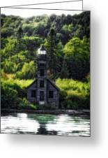 Munising Grand Island Lighthouse Upper Peninsula Michigan Vertical 01 Greeting Card