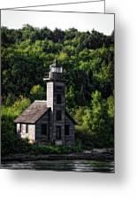 Munising Grand Island Lighthouse Upper Peninsula Michigan Vertical 02 Greeting Card