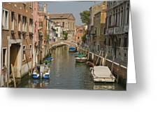 Murano Canal 4329 Greeting Card