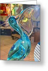 Murano Glass Pelican Greeting Card