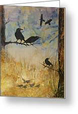 Murder Of Crows Greeting Card