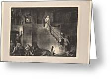Murder Of Edith Cavell, First State By George Bellows 1882-1925 Greeting Card