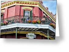 Muriels On The Square _ Nola Greeting Card
