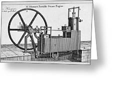 Murrays Portable Steam Engine, 19th Greeting Card