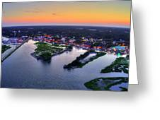 Murrells Inlet Marshwalk Dusk Greeting Card