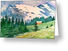 Murren Switzerland Greeting Card by Scott Nelson