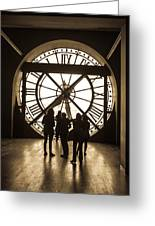 Musee D'orsay Clock Greeting Card