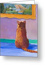 Museum Cat 2 Greeting Card