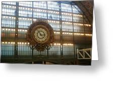 Museum D'orsay Clock Greeting Card