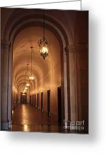 Museum Hallway Greeting Card
