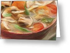 Mushroom And Vegetable Soup Greeting Card