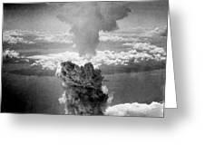 Mushroom Cloud Over Nagasaki  Greeting Card by War Is Hell Store