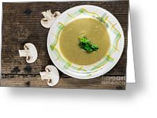 Mushroom Soup Greeting Card by Deyan Georgiev
