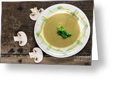 Mushroom Soup Greeting Card