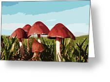 Mushrooms In Autumn Greeting Card