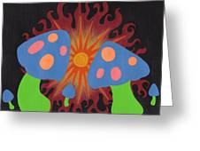 Mushrooms And Fire Greeting Card