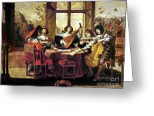 Music, 17th Century Greeting Card