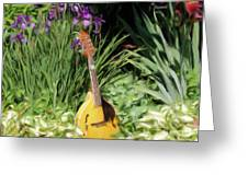 Music And Flowers Greeting Card