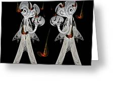 Music And Lace Greeting Card by Ricky Kendall