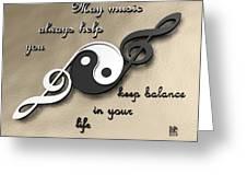 Music Balance Greeting Card