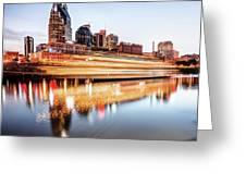 Music City Motion - Nashville Skyline Square Format Greeting Card