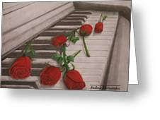 Music Creates Beautiful Things Greeting Card