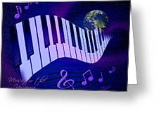 Music For The Universe Greeting Card by Judi Quelland