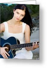 Music Girl Greeting Card