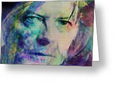 Music Icons - David Bowie Ill Greeting Card
