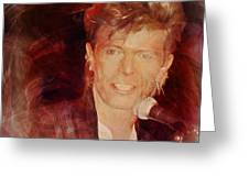 Music Icons - David Bowie Iv Greeting Card