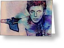 Music Icons - David Bowie Ix Greeting Card