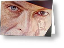 Music Icons - David Bowie Vll Greeting Card