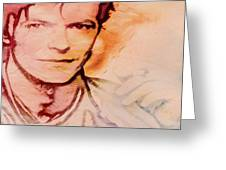 Music Icons - David Bowie Vlll Greeting Card