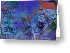 Music Icons - Frank Sinatra Iv Greeting Card