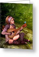 Music In The Woods Greeting Card