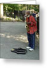 Music In Tompkins Square Greeting Card