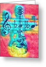 Music Is Everything In Colors Greeting Card