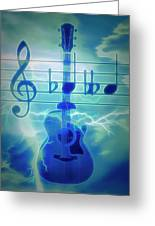 Music Is Everything Lightning Greeting Card