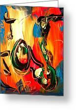 Music Jazz Saxophone Greeting Card