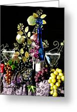 Music With Wine Greeting Card