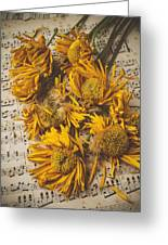Musical Sunflowers Greeting Card