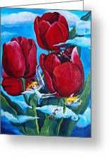 Musical Tulips Greeting Card