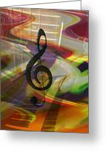 Musical Waves Greeting Card